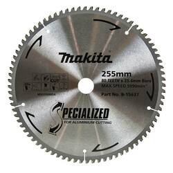 Makita Specialized 255mm 80T Aluminium Saw Blade # B-15637