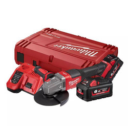 Milwaukee 18V Cordless 125mm 5 RAPID STOP Angle Grinder with Dead Man Paddle Switch Kit # M18FSAG125XPDB-602