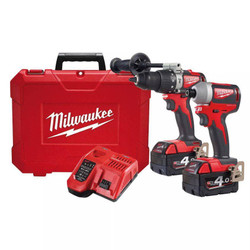 Milwaukee 18V Brushless 2pce Cordless Power Pack 2A2 # M18BLPP2A2-402C