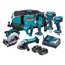 Makita 6pce 18V Cordless Lithium-Ion Combo Kit - DLX6102X1