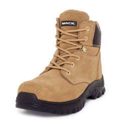 Mack Carpenter Lace Up Zip Safety Work Boots Honey Suede BONUS # MKCARPEN-HHF