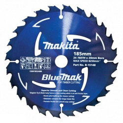 Makita 185mm x 24T Saw Blade 20mm Bore # B-15148