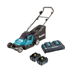 Makita 18Vx2 Cordless Lawn Mower 430mm 17 Kit - DLM432PT2