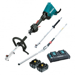 Makita Cordless 18Vx2 Brushless Multi-Function Powerhead and Hedge Trimmer Kit - DUX60PHPT2