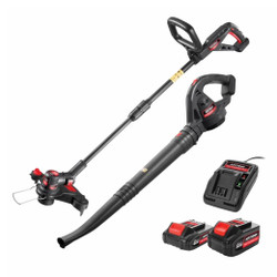 Katana 18V Charge-All Li-Ion Cordless 2pce Line Trimmer and Blower Combo Kit - 220520