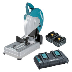 Makita 18Vx2 Brushless 355mm Abrasive Cordless Cut-Off Saw Kit - DLW140PT2