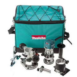 Makita 6.35mm 1/4 Router with Plunge Routing Base - RT0700CX2