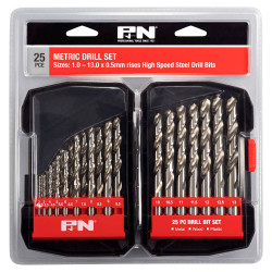 PandN 25pce Metric HSS Metal Drill Bit Set - 166044642