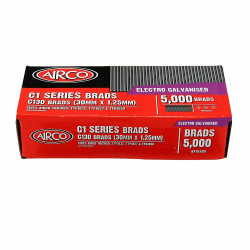 Airco C100 Series Brad Nails - 30 x 1.2mm # BF18300