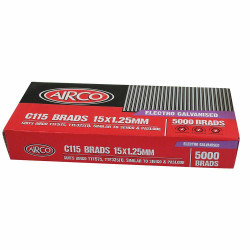 Airco C100 Series Brad Nails - 15 x 1.2mm # BF18150