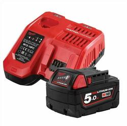 Milwaukee 18V 5.0Ah Li-ion Cordless Battery and Charger Starter Pack # M18SP-501B