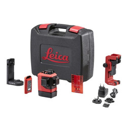 Leica LINO L6R-1 Li-ion 3x360° Red Beam Multi Line Laser Combo Kit Rugged Case # LG912969