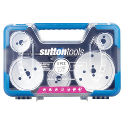 Sutton Tools Heavy Duty Bi-Metal 5pce Plumber Holesaw Set - H125BM7