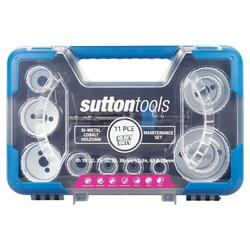 Sutton Tools Heavy Duty Bi-Metal 11pce Maintenance Holesaw Set - H125BM3