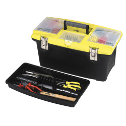 "Stanley 19"" Jumbo Organizer Tool Box with Metal Latches # 1-92-908"