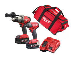 Milwaukee FUEL 18v Cordless 2pce Combo Kit # M18FPP2A-502C-BAG