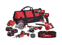 Milwaukee 18V Fuel Brushless 7pce Power Pack 7P2 Cordless Combo Kit # M18FPP7P2-503B