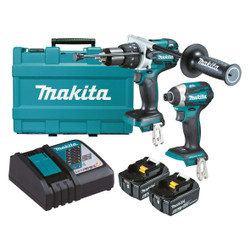 Makita 18V (6.0Ah) Lithium-Ion Brushless 2pce Combo Kit # DLX2176G
