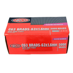 Airco 63mm Electro Galvanised C63 Brads - BC16630