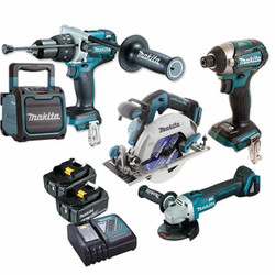 Makita 18V 5.0Ah Cordless 5pce Brushless Combo Kit - DLX5031T