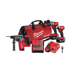 Milwaukee M18 FUEL 18v Cordless 3pce Power Combo Pack # M18FPP3R2-502B