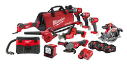 Milwaukee 18V Cordless Fuel Brushless 10pce Power Combo Pack 10C2 # M18FPP10C2-603B