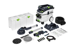 Festool LHS2-225-PLANEX 225mm Drywall Sander in Systainer with M Class Dust Extractor Set - 576702