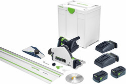 Festool 18V 160mm Cordless Plunge Saw 5.2Ah XL Set in Systainer with 1400mm Rail 577282 # TSC55KEBI-PLUS/XL-FS