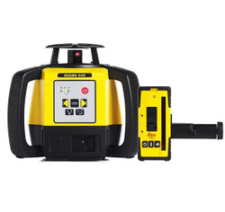 Leica Rugby 640 Rotating Red Laser Level + Rod Eye 160 Receiver - LG6005989
