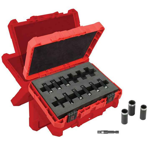 Milwaukee 12pce 1/4 Impact Thin Wall Deep Impact Socket Set #49-66-4301