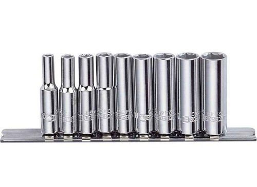 Sidchrome 9pce Socket Set Deep 1/4 - SCMT12430