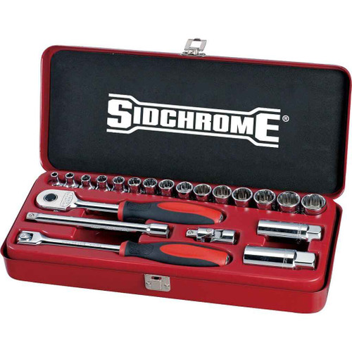 Sidchrome 21pce Socket Set 3/8 Metric - SCMT13205