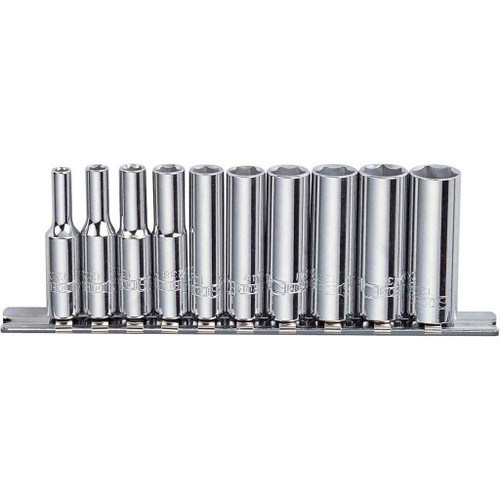 Sidchrome 10pce Socket Set Deep 1/4 - SCMT12230