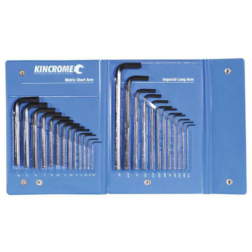 Kincrome Hex Key Wrench Set AF and Metric 25pce #HKW25C