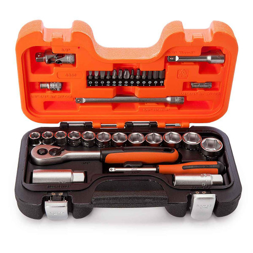 Bahco 34pce 1/4 and 3/8 Drive Metric Socket Set - S330