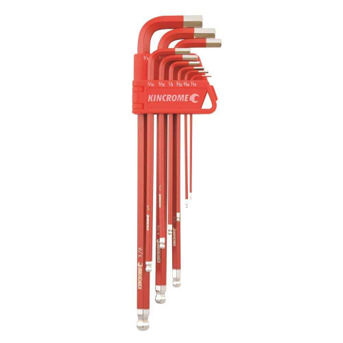 Kincrome Ball Point Hex Key Set Long Series 9 Piece AF #K5042