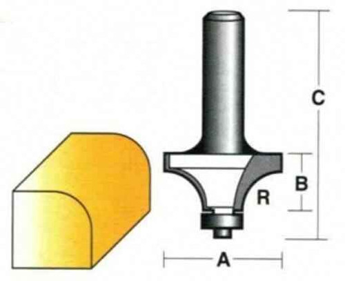 Carbitool Round Over With Ball Bearing Guide 19mm #T504B