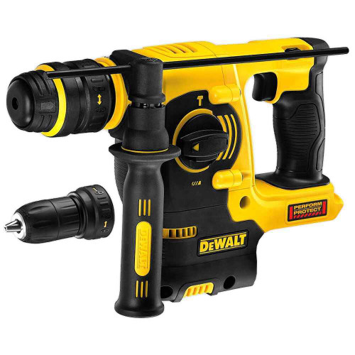 Dewalt 18V XR Li-Ion Heavy Duty 3 Mode Quick Change Chuck Dedicated Cordless Hammer Skin # DCH254N-XE