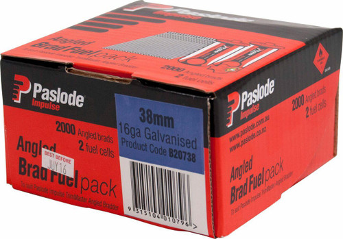 Paslode Impulse Angled Nail-Fuel Pack 38mm #B20738