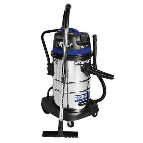 Kincrome 240V/1400W 50L Wet and Dry Workshop Vacuum #KP704
