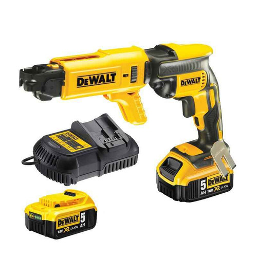 Dewalt 18V Li-Ion 5.0Ah BRUSHLESS Collated Drywall Screwdriver Kit - DCF620P2K-XE