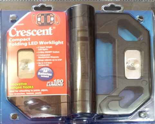 Crescent Compact Folding LED Worklight #LED125TA