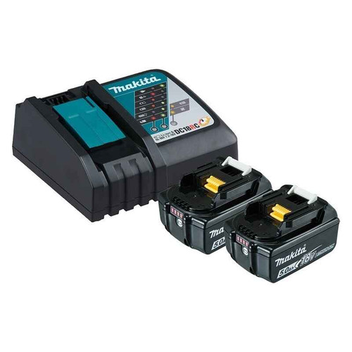 Makita Battery Charger 2 x 5.0Ah Batteries # 199179-3