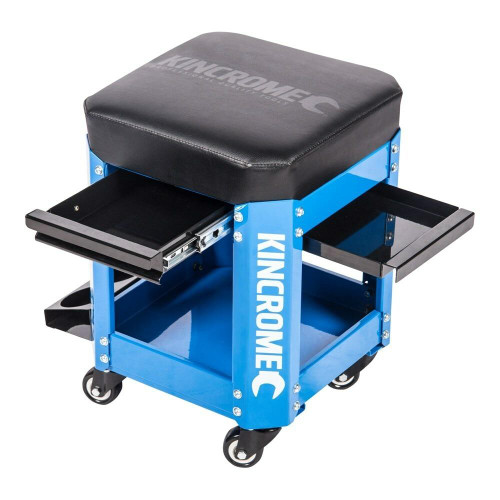 Kincrome 2 Drawer Electric Blue Workshop Creeper Seat - K8114