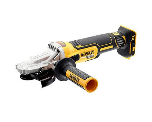 Dewalt 18V XR Li-ion Cordless 125mm Flat Head Brushless Angle Grinder Skin # DCG405FN-XJ