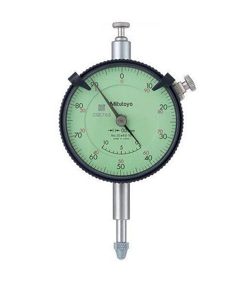 Mitutoyo Dial Indicator 10mm 0-100 Dial-Lug Back Adjustable Hand and Counter - 2048S-10