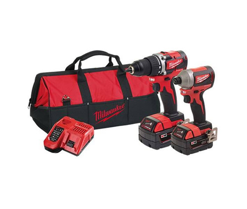 Milwaukee M18 Compact Brushless 18v Cordless 2pce Power Pack - M18CBLPP2A-302B