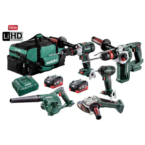 Metabo 18V 5.5Ah LiHD Lithium-Ion Brushless Cordless Combo Kit – BL5LB2HD5.5H
