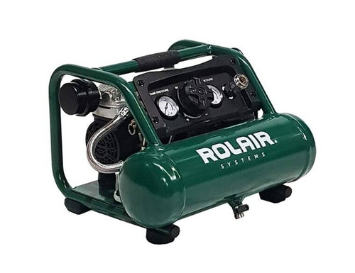 Rolair AB5 Quiet Oil Free Hand Carry Air Compressor 1/2HP 5Ltr