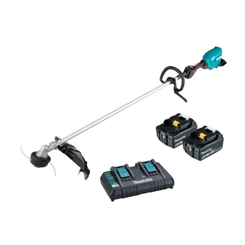 Makita Cordless 18Vx2 Brushless Loop Handle Line Trimmer Kit # DUR369LPG2